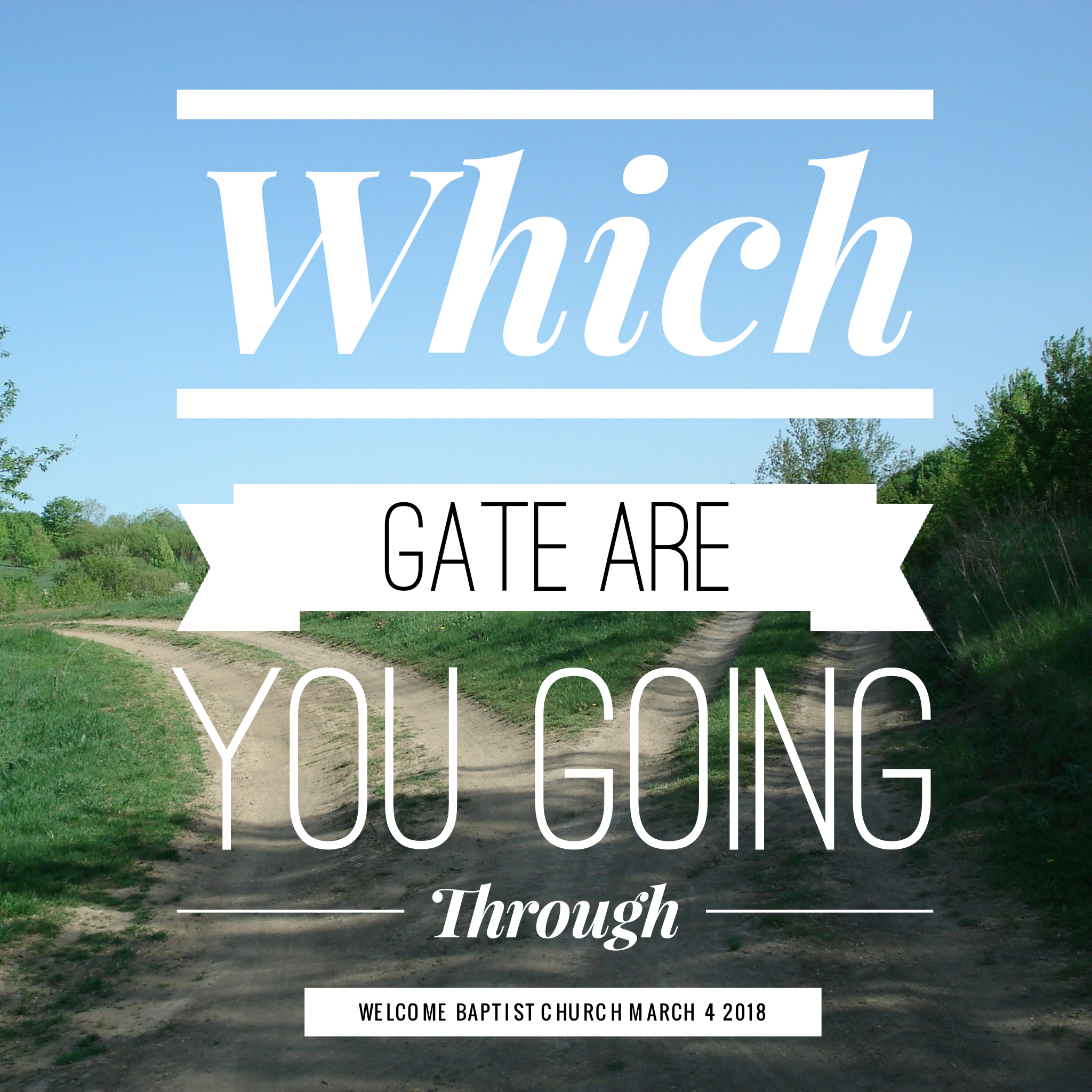 Which Gate Are You Going Through